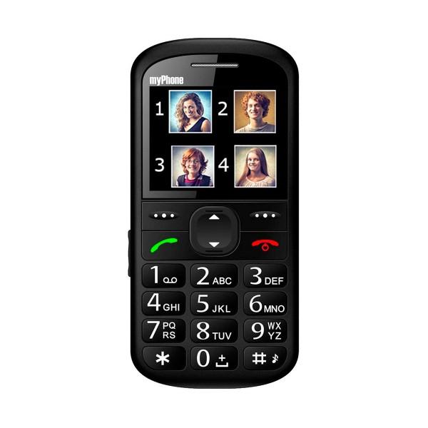 Myphone halo 2 negro móvil senior 2.2'' cámara vga bluetooth microsd botón sos base de carga