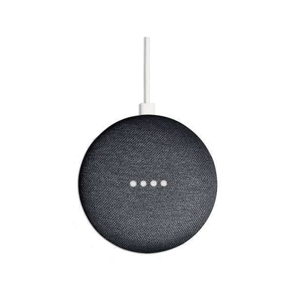 Google google home mini tela gris carbón altavoz inteligente con asistente google assistant reconocimiento por voz luces led de estados wifi 5ghz