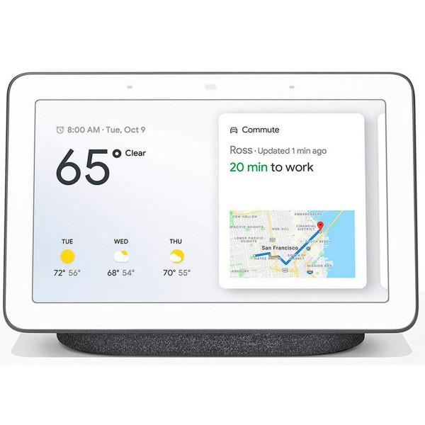 Google nest hub carbón pantalla táctil 7'' con altavoz inteligente wifi y asistente de google
