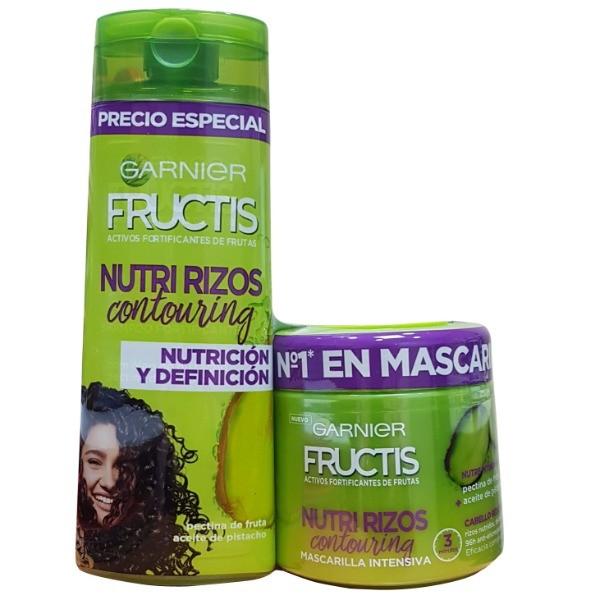 Fructis Nutri Rizos Mascarilla 300 ml + Acondicionador 250 ml PACK AHORRO